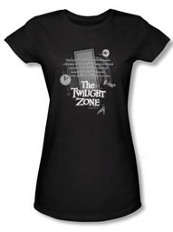 Twilight Zone Juniors T-Shirt - Monologue Black