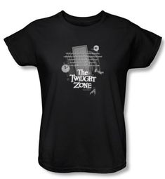 Twilight Zone Ladies T-Shirt - Monologue Black