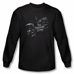 Twilight Zone Shirt Faces Long Sleeve Black Sweatshirt