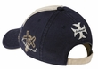 Two Tone New York Hat - 3D Lackpard Distressed Cap - Navy