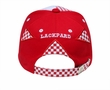 Two Tone Racing Hat with Rubber Patch - Lackard Checkered Cap - Red