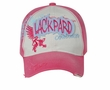 Two Tone Vintage Design Hat - Lackpard Cap - Hot Pink
