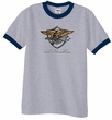 U.S. Navy Seal Shirt Devgru Mens Ringer Tee T-Shirt