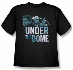 Under The Dome Shirt Kids Character Art Black Youth Tee T-Shirt