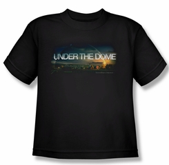 Under The Dome Shirt Kids Dome Key Art Black Youth Tee T-Shirt