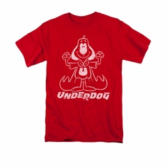 Underdog Shirt Outline Under Adult Red Tee T-Shirt