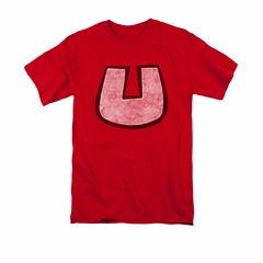 Underdog Shirt U Crest Adult Red Tee T-Shirt