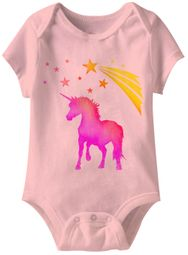 Unicorn Funny Baby Romper Pink Infant Babies Creeper