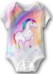 Unicorn Funny Baby Romper White Infant Babies Creeper