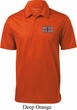 Union Jack Patch Pocket Print Mens Textured Polo Shirt