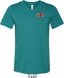 Union Jack Patch Pocket Print Mens Tri Blend V-neck Shirt