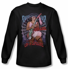 Up In Smoke Shirt Pantyhose Long Sleeve Black Tee T-Shirt