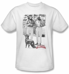 Up In Smoke Shirt Square Adult White Tee T-Shirt