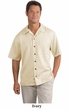 Upscale Men's Short Sleeve Easy Care Camp Shirt