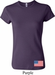 US Flag Bottom Print Ladies Crewneck Shirt