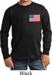 US Flag Pocket Print Kids Long Sleeve Shirt