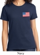 US Flag Pocket Print Ladies Shirt
