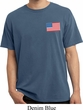 US Flag Pocket Print Pigment Dyed Shirt