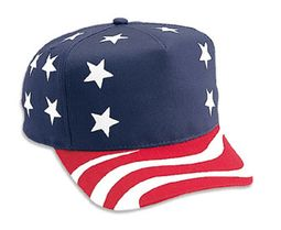 US Hat with Flag Design - Golf Stlye Adjustable Cotton Cap
