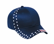 US Hat with Patriotic Flag Design - Adjustable Cotton Cap
