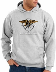 US Navy Seal Hoodie Hooded Sweatshirt - Devgru Adult Ash Hoody