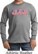 USA 3D Kids Long Sleeve Shirt