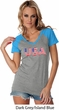 USA 3D Ladies Contrast V-Neck Shirt