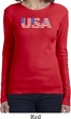 USA 3D Ladies Long Sleeve Shirt