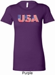 USA 3D Ladies Longer Length Shirt