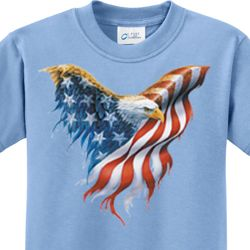 USA Eagle Flag Kids Shirts