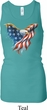 USA Eagle Flag Ladies Longer Length Racerback Tank Top