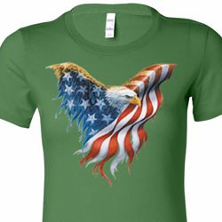 USA Eagle Flag Ladies Shirts