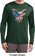 USA Eagle Flag Mens Dry Wicking Long Sleeve Shirt