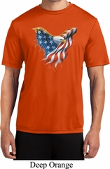 USA Eagle Flag Mens Moisture Wicking Shirt