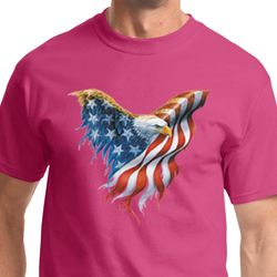 USA Eagle Flag Mens Shirts