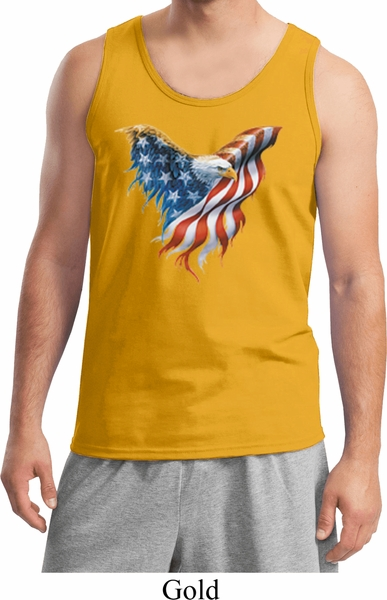 47fd1d3345e5fe USA Eagle Flag Mens Tank Top - USA Eagle Flag Mens Shirts