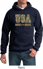 USA Home of the Brave Hoodie