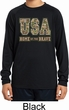 USA Home of the Brave Kids Dry Wicking Long Sleeve Shirt