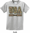 USA Home of the Brave Kids Shirt