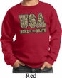 USA Home of the Brave Kids Sweatshirt