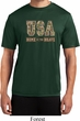 USA Home of the Brave Mens Moisture Wicking Shirt