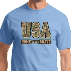 USA Home of the Brave Mens Shirts