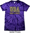 USA Home of the Brave Spider Tie Dye Shirt