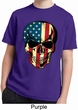 USA Skull Kids Moisture Wicking Shirt