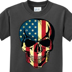 USA Skull Kids Shirts