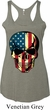 USA Skull Ladies Tri Blend Racerback Tank Top