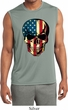 USA Skull Mens Sleeveless Moisture Wicking Shirt