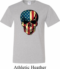 USA Skull Mens Tall Shirt