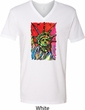 USA Tee Statue of Liberty Painting V-neck Shirt
