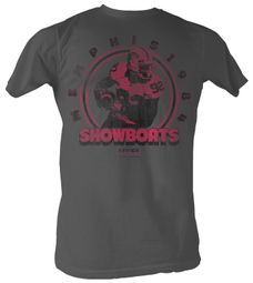 USFL Memphis Showboats T-shirt Reggie White Adult Charcoal Tee Shirt